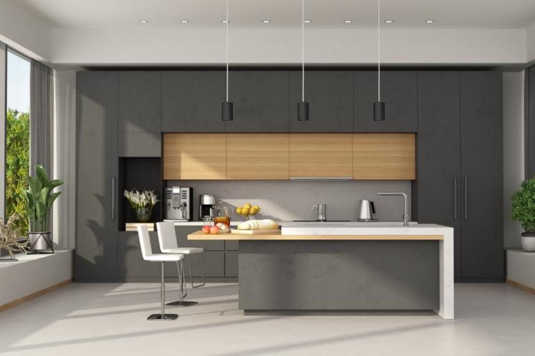 graue Küche-01